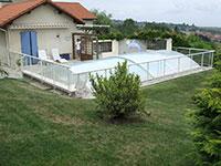 Barrière de piscine habillage plexiglas
