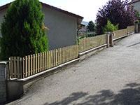 Barrière de clôture - lames de 70 mm verticales