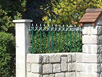 Barrière de clôture Anet avec ronds ouverts
