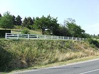 Barrière de clôture - 3 lices en lames de 100 mm