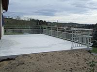 Barrières garde corps pour balcon en alu