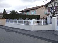 Barrière de clôture Anet avec traverse intermédiaire - forme bombé