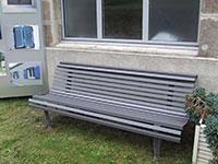 Banc en aluminium sur ossature fer