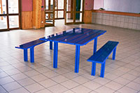 Table en lames de 160 mm + bancs