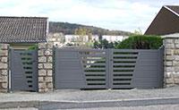 Portail & portillon pivotant MILLENIUM M 512 - lames dse 80 mm